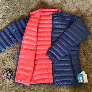 Columbia women's puffer jacket blue/pink